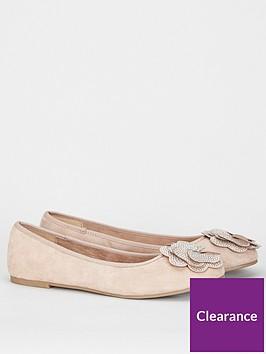 evans-evans-extra-wide-fit-raja-flower-ballet-shoe