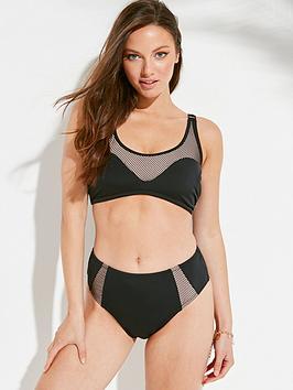 Pour Moi Pour Moi Glamazonia Underwired Half Pad Cami Bikini Top - Black Picture