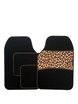 Streetwize Accessories Streetwize Accessories 4 Piece Leopard Print Car  ... Picture