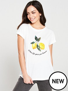 0c09064af24ac Oasis Lemon Jersey Top - White