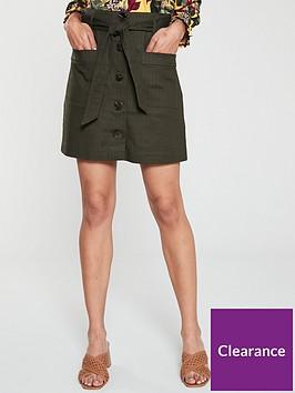 oasis-patch-pocket-button-skirt-khaki
