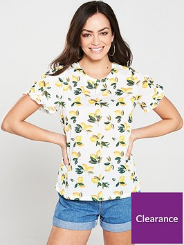 oasis-lemon-spot-jersey-top-print