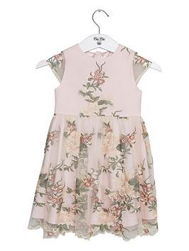 Chi Chi London Girls Bryanna Dress - Cream
