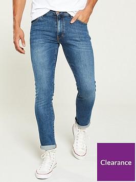 wrangler-larston-slim-tapered-jeans-blue