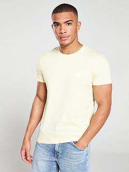 wrangler-short-sleeved-sign-off-t-shirt-yellow