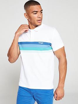 wrangler-short-sleeved-stripe-polo-shirt-white