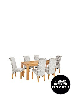 oakland-170-cm-solid-wood-dining-table-6-oxford-silver-chairs