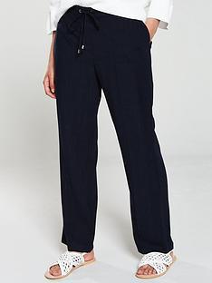 wallis-tie-front-linen-trouser-navy