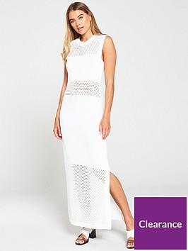 warehouse-mesh-panel-maxi-dress-ivory
