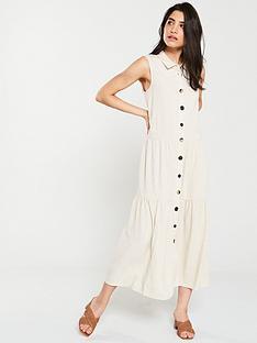 warehouse-linen-tiered-shirt-midi-dress-stone