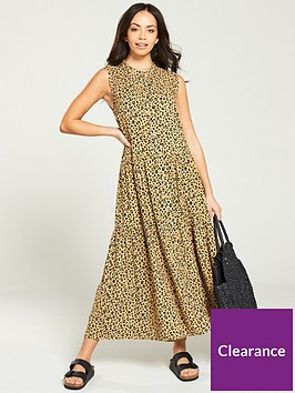 warehouse-leopard-tiered-shirt-midi-dress-multi