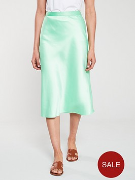 warehouse-bias-cut-midi-skirt-apple-green