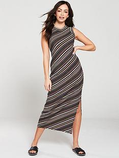 warehouse-stripe-rib-jersey-midi-dress-multi