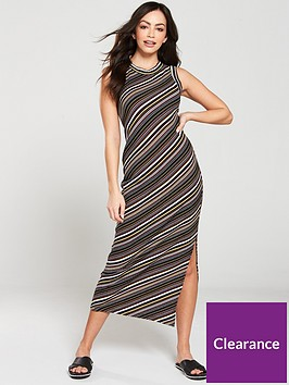 warehouse-stripe-rib-jersey-midi-dress-multi