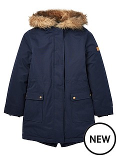 joules-girls-bonnie-faux-fur-lined-parka-navy