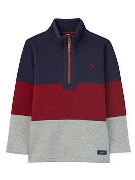 joules-boys-dale-colour-block-half-zip-jacket-multi