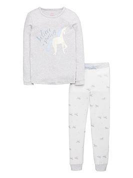 joules-girls-unicorn-pyjama-set-silver