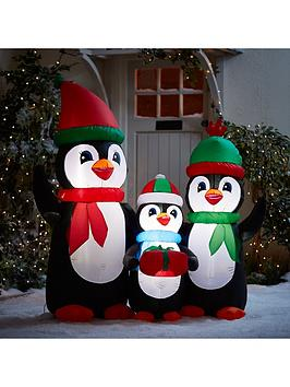 5ft-inflatable-penguin-family-outdoor-christmas-decoration