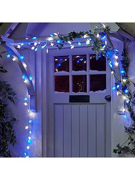 Very  100 Blue And White Led Indoor/Outdoor Christmas Star Lights