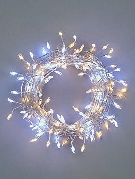 Festive Festive 160 Silver Sparklebright Dewdrop Christmas Lights - Warm  ... Picture