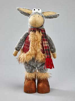 Festive Festive Standing Plush Donkey Room Decoration Picture