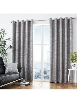 Curtina Curtina Africa Lined Eyelet Curtains Picture