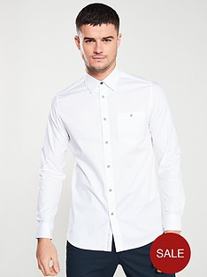 ted-baker-long-sleeved-branded-tape-shirt-white