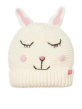 Joules   Girls Chummy Bunny Knitted Hat - Cream