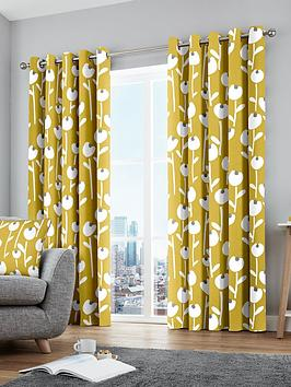 Fusion Fusion Alabar Lined Eyelet Curtains Picture