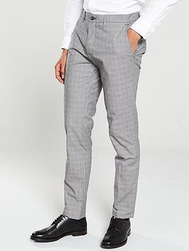 Ted Baker Ted Baker Checked Trousers - Grey Picture