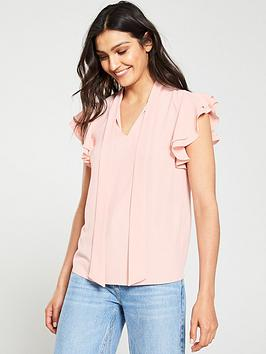 V by Very V By Very Sleeveless Pussybow Blouse - Blush Picture