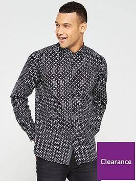 ted-baker-long-sleeve-geo-print-shirt-black