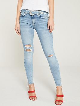 river-island-river-island-amelie-belted-distressed-skinny-jeans--light-blue