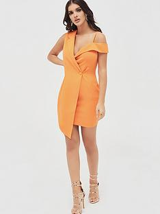 lavish-alice-off-shoulder-tux-mini-dress-orange