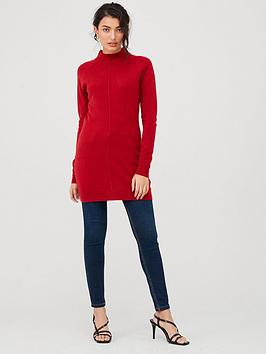 v-by-very-supersoft-seam-detail-longline-jumper-deep-rednbsp