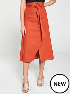 v-by-very-linen-skirt-burnt-orange