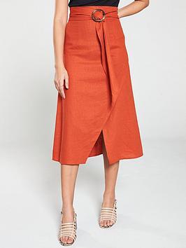 v-by-very-linen-skirt-burnt-orange