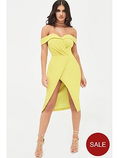 lavish-alice-pleated-bardot-wrap-midi-dress-acid-yellow