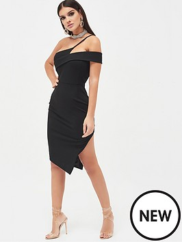 lavish-alice-strappy-one-shoulder-midi-dress-black
