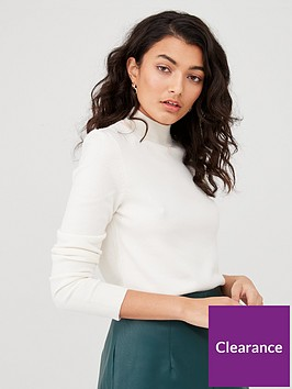 v-by-very-supersoft-turtleneck-button-detail-jumper-cream