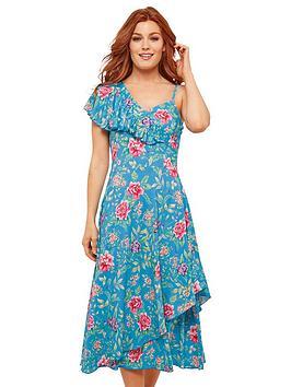 Joe Browns Joe Browns Joe Browns All The Frills Floral Maxi Dress Picture