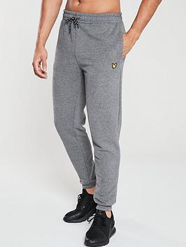 lyle-scott-fitness-fleece-joggers-mid-grey-marl