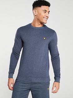 lyle-scott-fitness-crew-neck-mid-layer-navy
