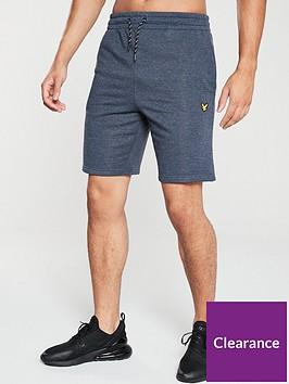 lyle-scott-fitness-fleece-shorts-navy-marl