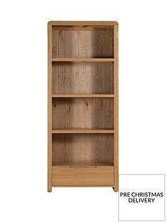 julian-bowen-newman-curve-ready-assembled-solid-oak-and-oak-veneer-bookcase