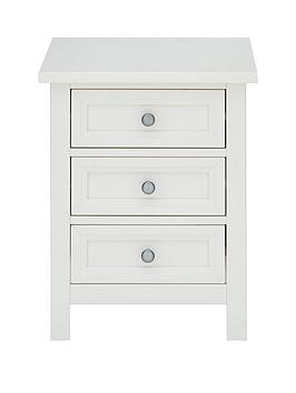 Julian Bowen Julian Bowen Maine 3 Drawer Bedside Chest Picture