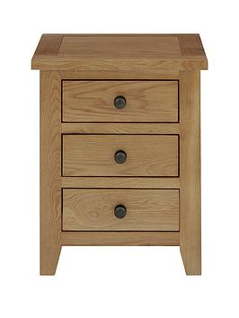 Julian Bowen Julian Bowen Marlborough Ready Assembled 3 Drawer Solid  ... Picture