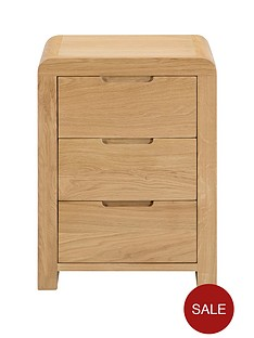 julian-bowen-newman-curve-3-drawer-bedside-cabinet