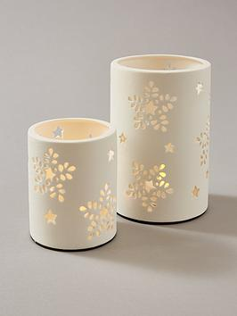 Very White Filigree Tealight Holders (Set Of 2) Picture