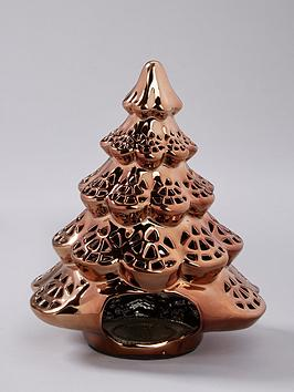 Very Gold Christmas Tree Tealight Holder Picture